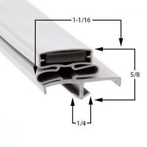 Electro Freeze Part# 160563-01 Compatible Door Gasket