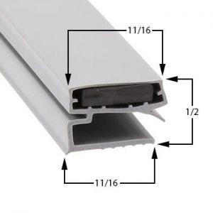 Stanley-Knight Part# 418130103000 Compatible Door Gasket