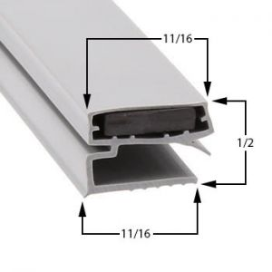 Stanley-Knight Part# 418130100200 Compatible Door Gasket