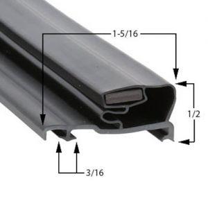Schott Gemtron Part# 3M-0016-080 Door Gasket