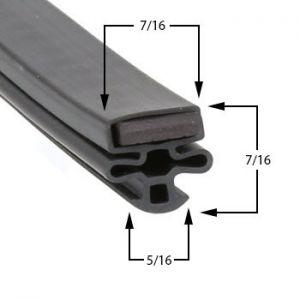 Universal Nolin 25 1/2 x 62 1/4 Door Gasket