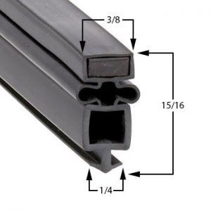 True TR1HPT-2HS-2HS Door Gasket Part# (810797)